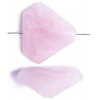 30x35mm Rose Quartz Triangle Semi-Precious